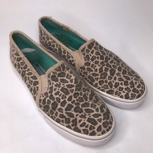 Keds Double Decker Leopard Wool Sneaker Slip On